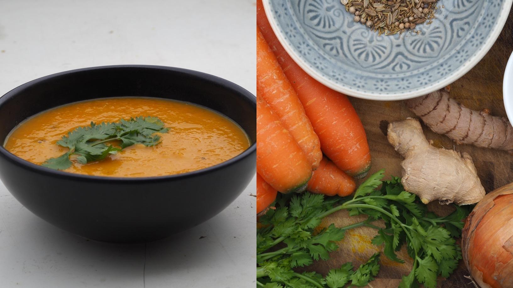 Rüebli-Suppe mit frischem Ingwer